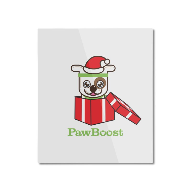 Happy Howlidays! (dog) Home Mounted Aluminum Print by PawBoost's Shop