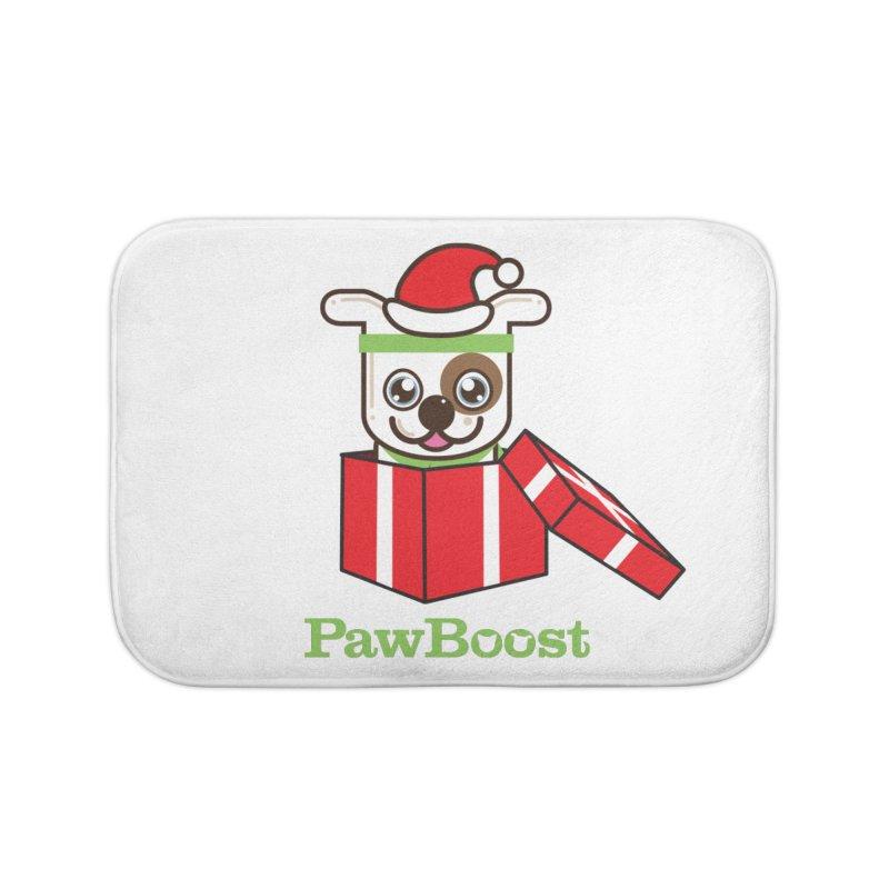 Happy Howlidays! (dog) Home Bath Mat by PawBoost's Shop