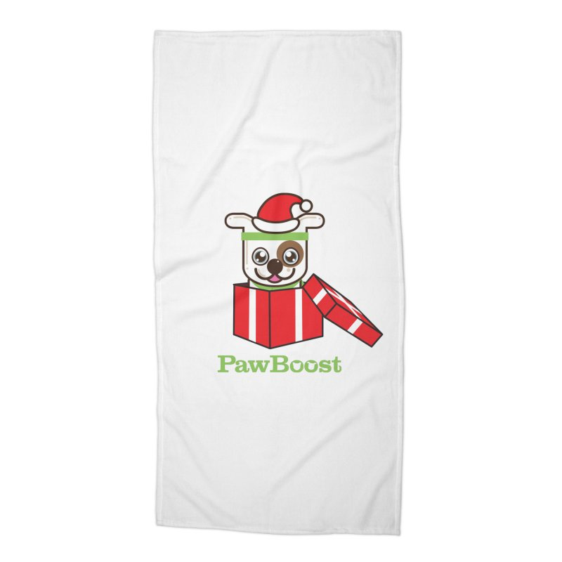 Happy Howlidays! (dog) Accessories Beach Towel by PawBoost's Shop