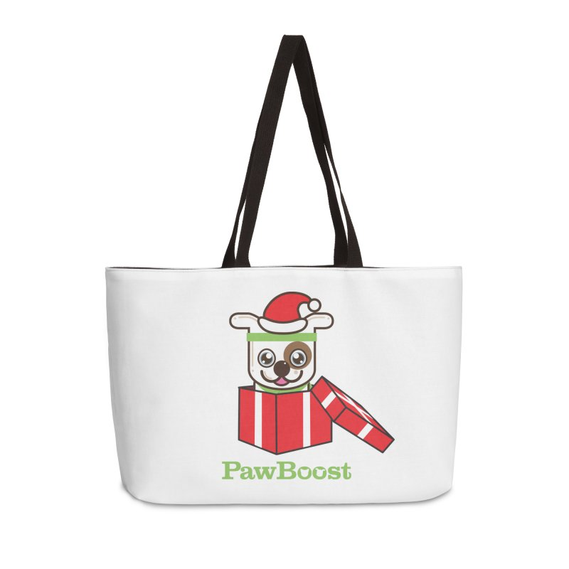 Happy Howlidays! (dog) Accessories Weekender Bag Bag by PawBoost's Shop