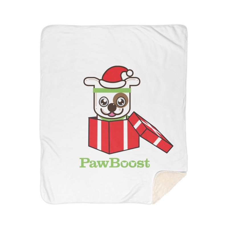 Happy Howlidays! (dog) Home Sherpa Blanket Blanket by PawBoost's Shop