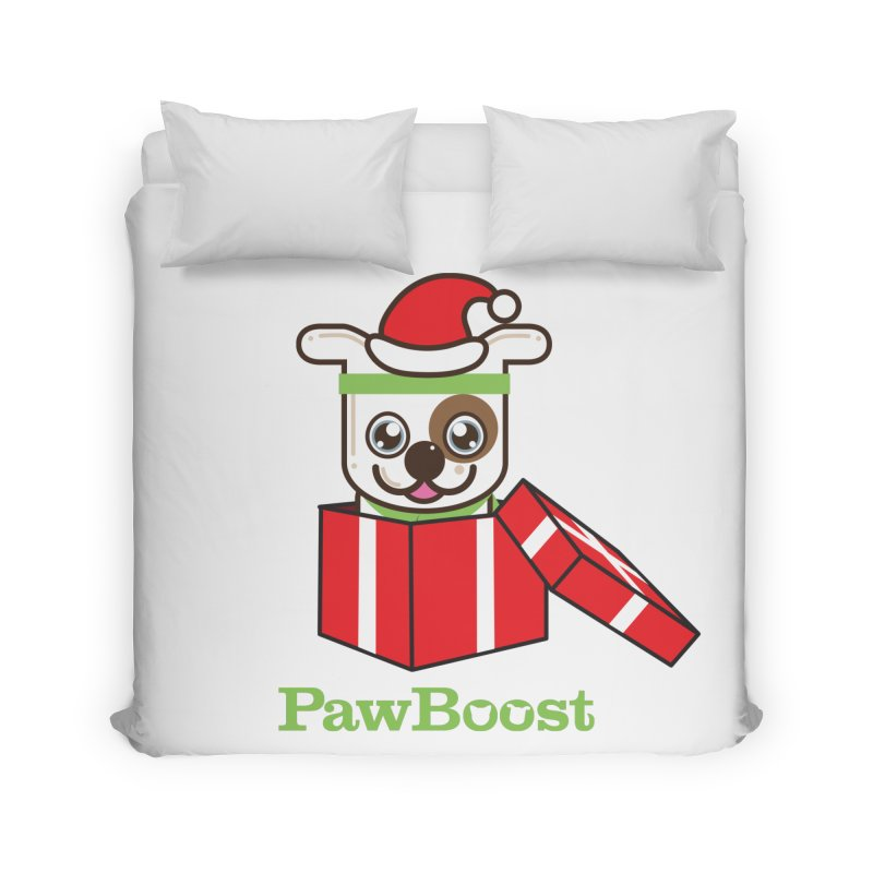 Happy Howlidays! (dog) Home Duvet by PawBoost's Shop
