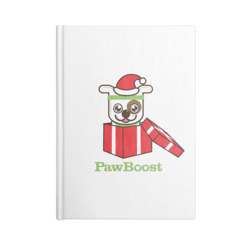 Happy Howlidays! (dog) Accessories Lined Journal Notebook by PawBoost's Shop