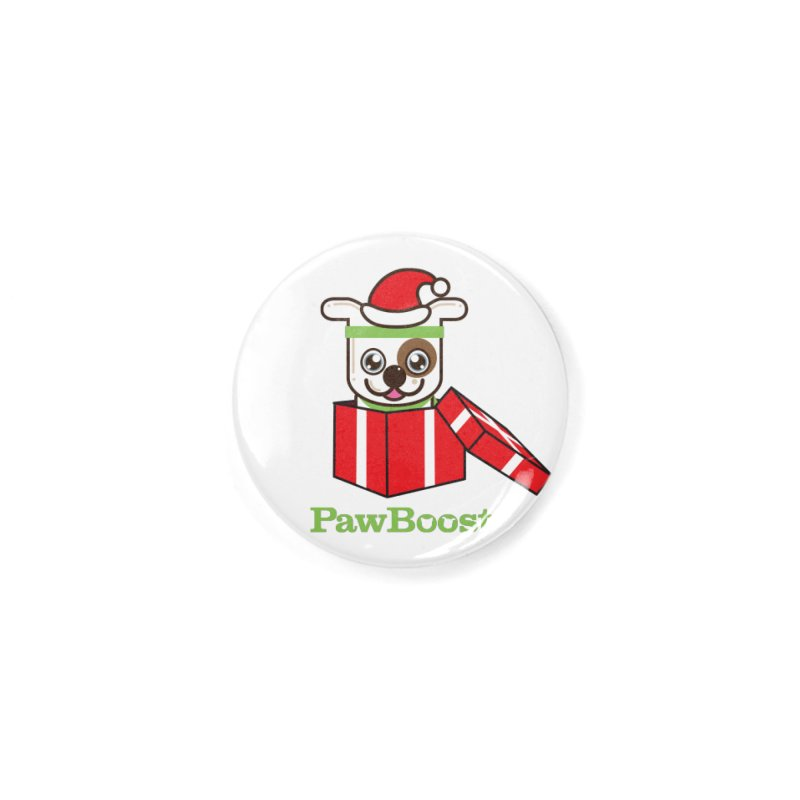 Happy Howlidays! (dog) Accessories Button by PawBoost's Shop