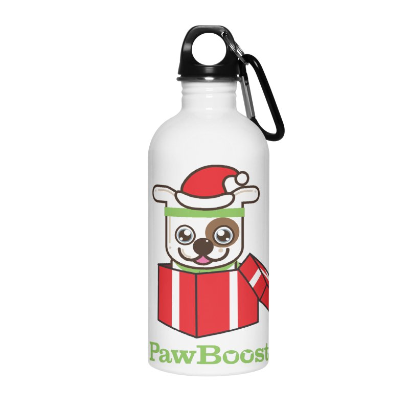 Happy Howlidays! (dog) Accessories Water Bottle by PawBoost's Shop