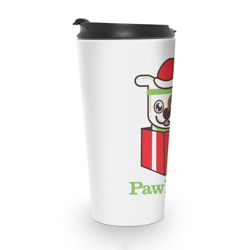 Happy Howlidays! (dog) Accessories Travel Mug by PawBoost's Shop