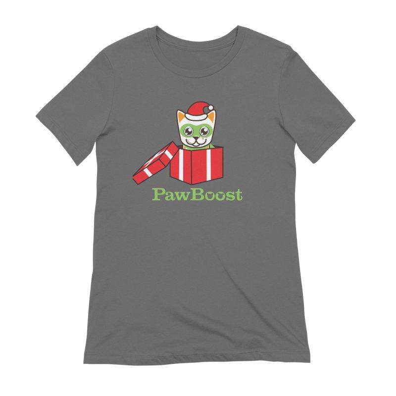 Meowy Christmas! (cat) Women's T-Shirt by PawBoost's Shop