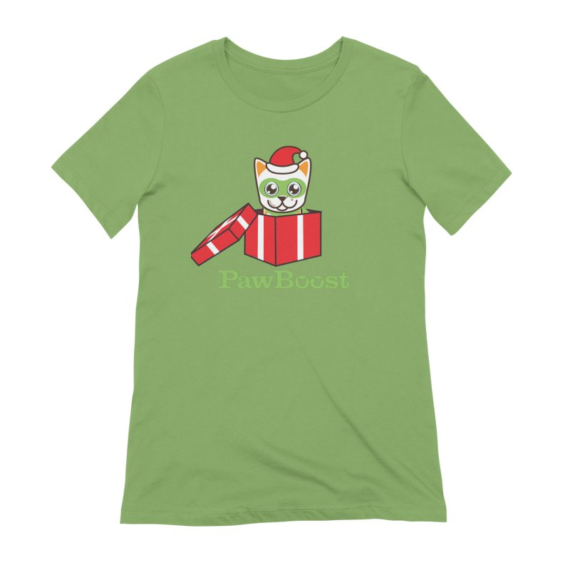 Meowy Christmas! (cat) Women's Extra Soft T-Shirt by PawBoost's Shop