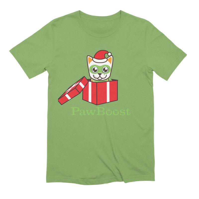 Meowy Christmas! (cat) Men's Extra Soft T-Shirt by PawBoost's Shop