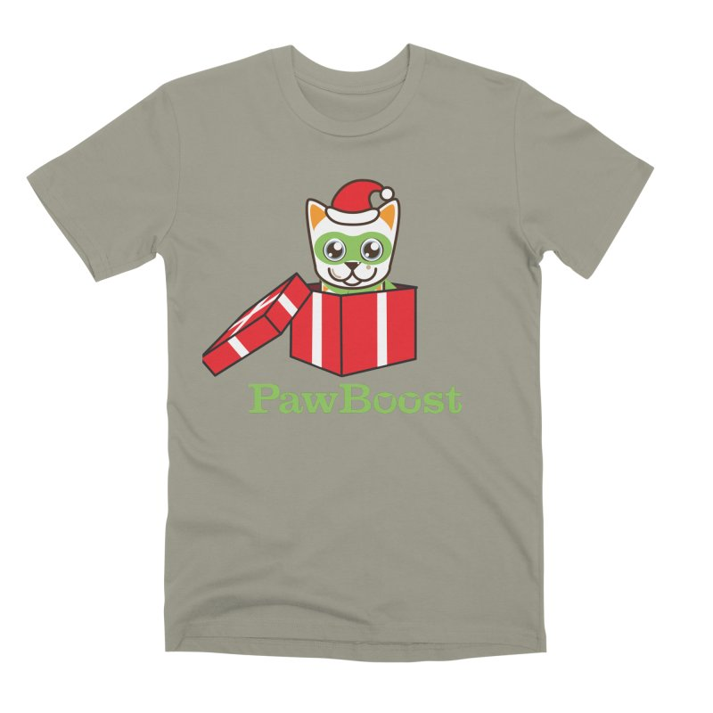 Meowy Christmas! (cat) Men's Premium T-Shirt by PawBoost's Shop