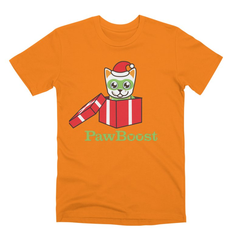 Meowy Christmas! (cat) Men's T-Shirt by PawBoost's Shop