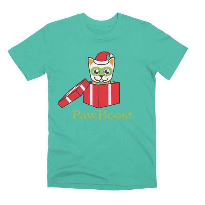 Meowy Christmas! (cat) Men's Premium T-Shirt by PawBoost's Shop