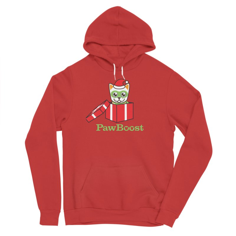Meowy Christmas! (cat) Women's Pullover Hoody by PawBoost's Shop
