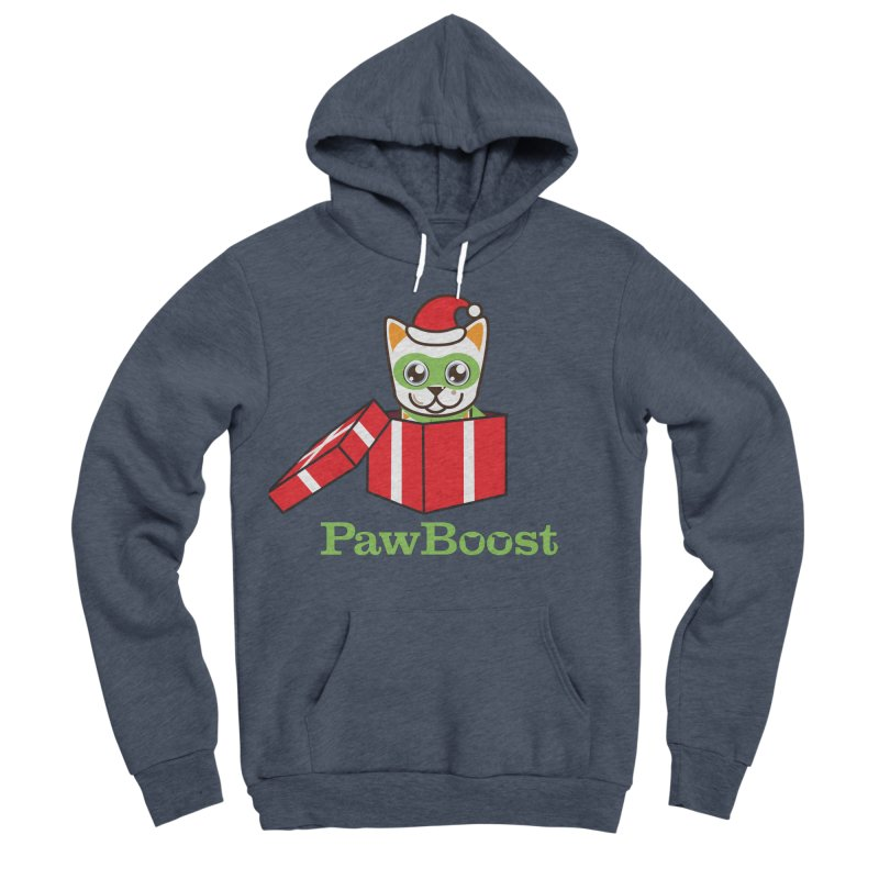 Meowy Christmas! (cat) Women's Sponge Fleece Pullover Hoody by PawBoost's Shop