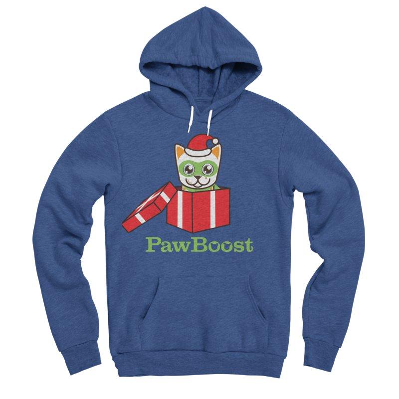 Meowy Christmas! (cat) Men's Sponge Fleece Pullover Hoody by PawBoost's Shop