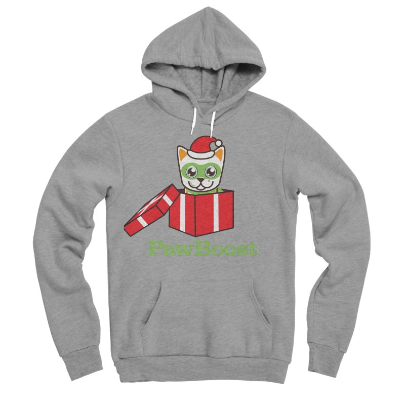 Meowy Christmas! (cat) Men's Sponge Fleece Pullover Hoody by PawBoost's Shop