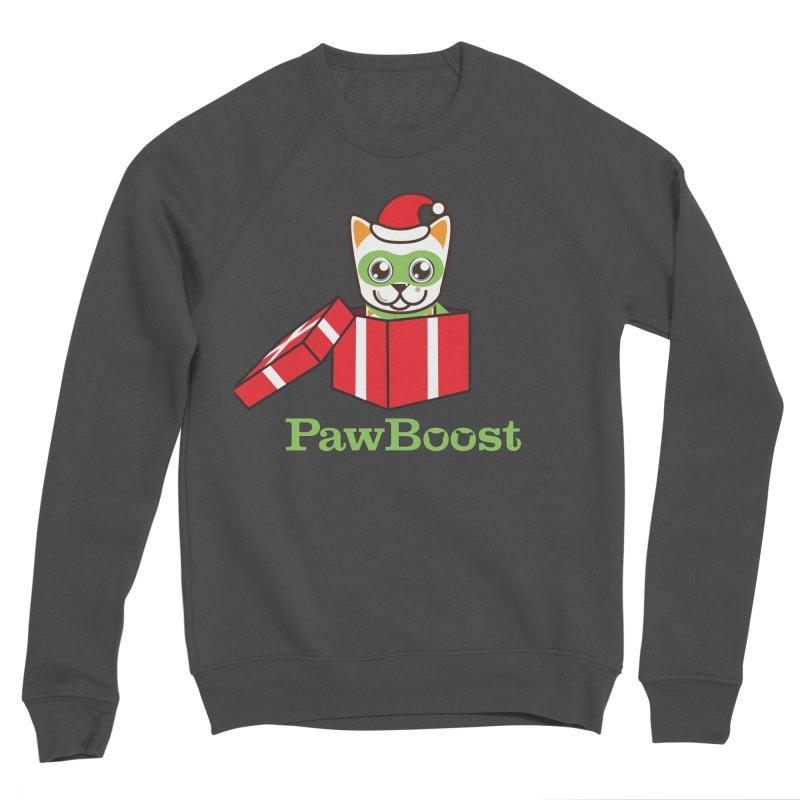Meowy Christmas! (cat) Women's Sponge Fleece Sweatshirt by PawBoost's Shop