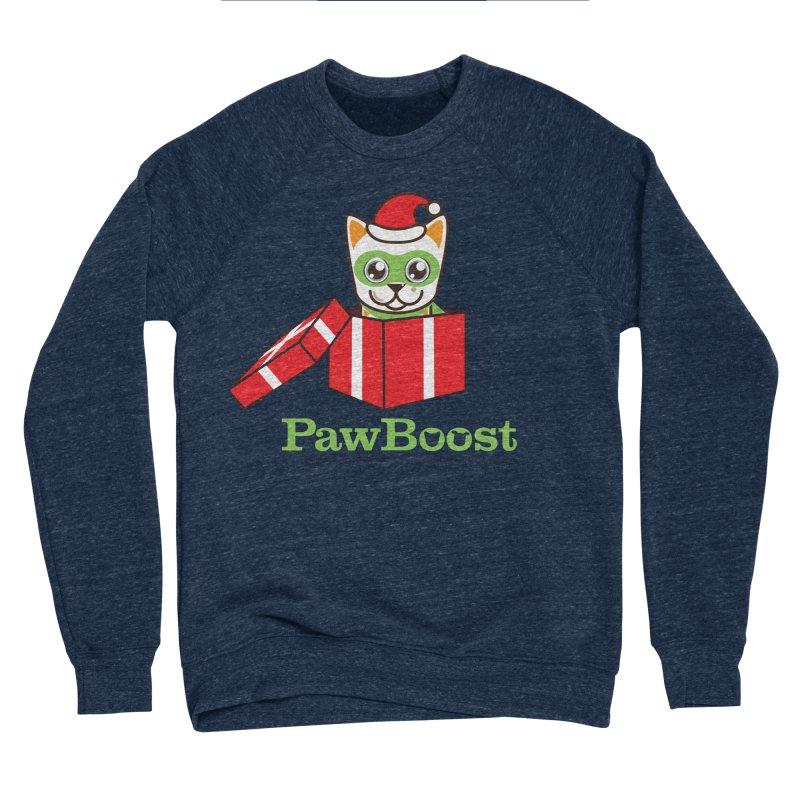 Meowy Christmas! (cat) Men's Sponge Fleece Sweatshirt by PawBoost's Shop