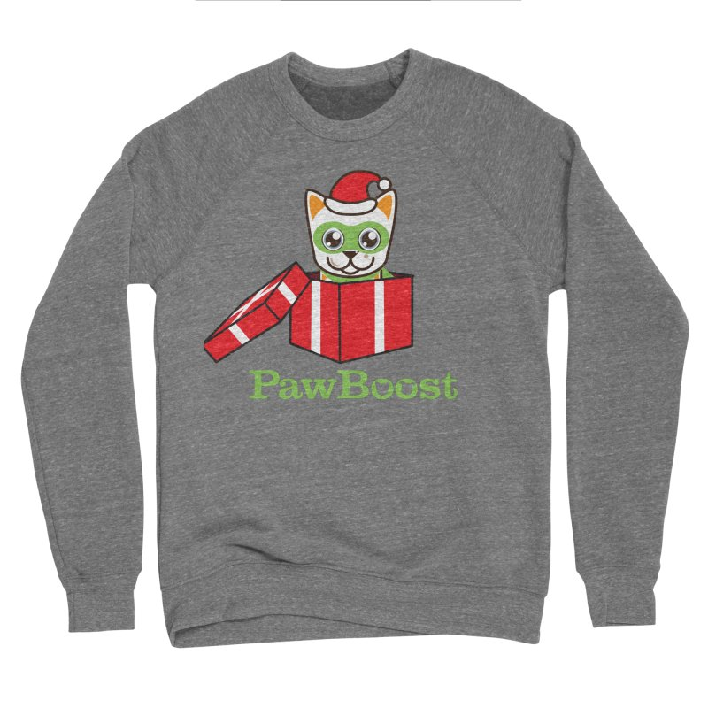 Meowy Christmas! (cat) Women's Sponge Fleece Sweatshirt by PawBoost's Shop