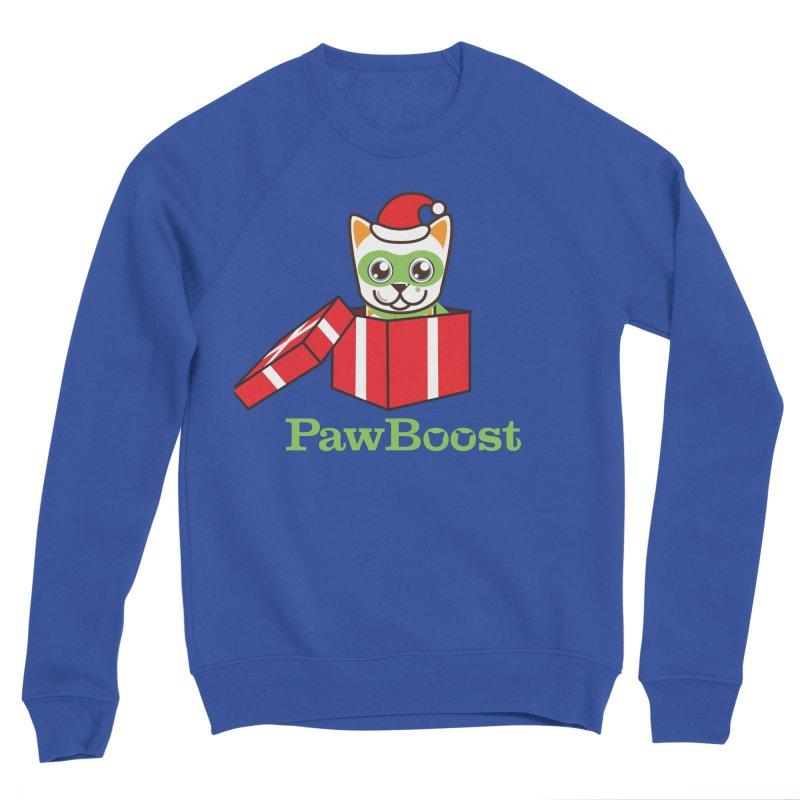 Meowy Christmas! (cat) Men's Sweatshirt by PawBoost's Shop