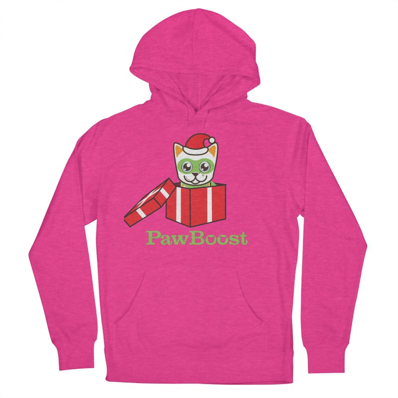 Meowy Christmas! (cat) Women's French Terry Pullover Hoody by PawBoost's Shop