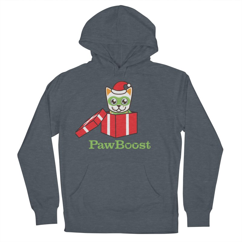 Meowy Christmas! (cat) Men's French Terry Pullover Hoody by PawBoost's Shop