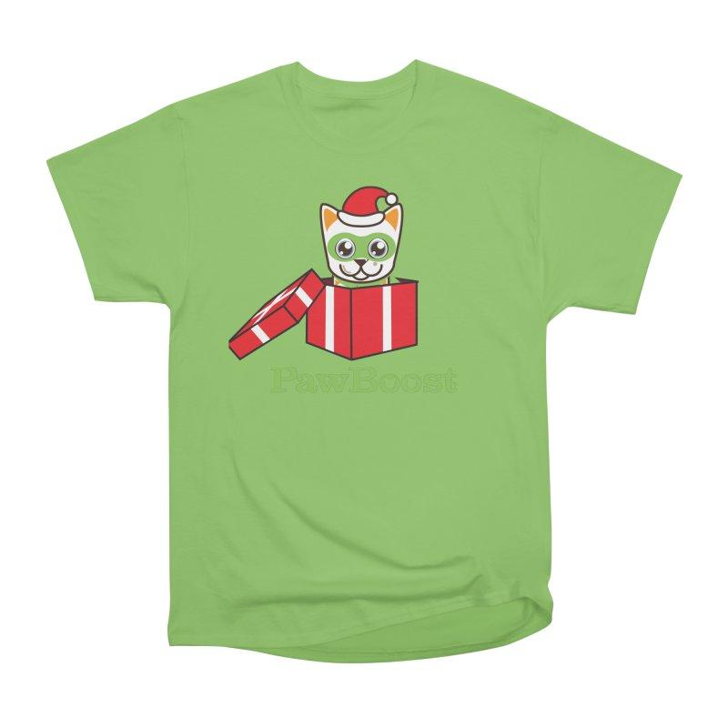 Meowy Christmas! (cat) Men's Heavyweight T-Shirt by PawBoost's Shop