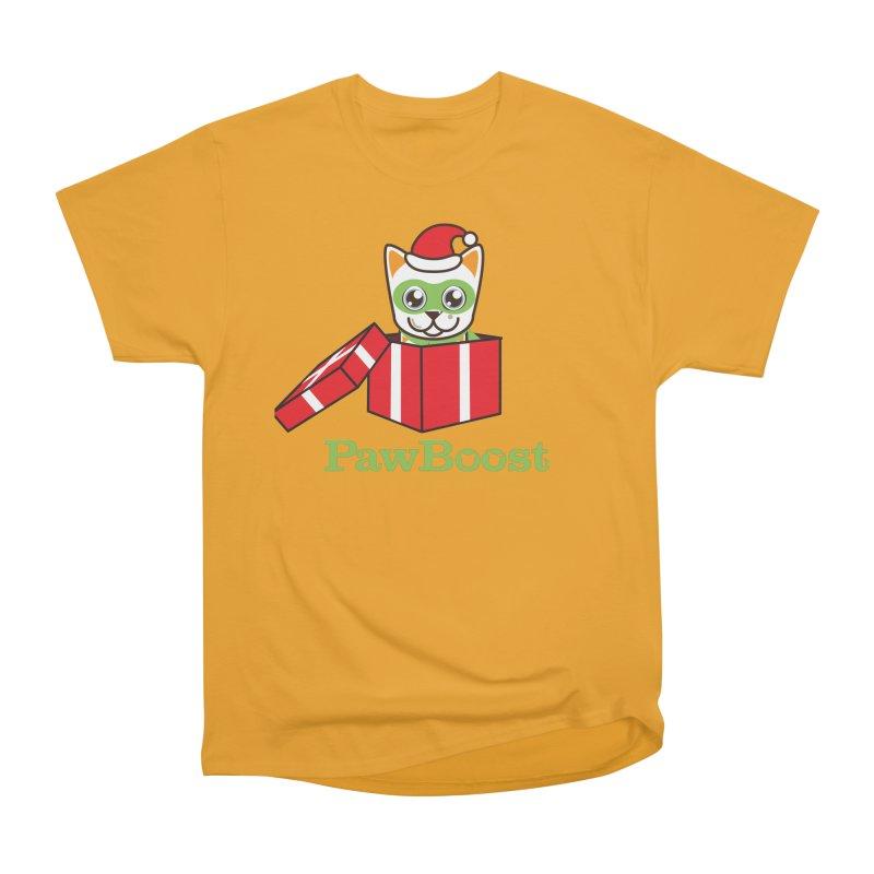 Meowy Christmas! (cat) Women's Heavyweight Unisex T-Shirt by PawBoost's Shop