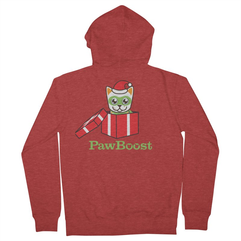 Meowy Christmas! (cat) Women's French Terry Zip-Up Hoody by PawBoost's Shop