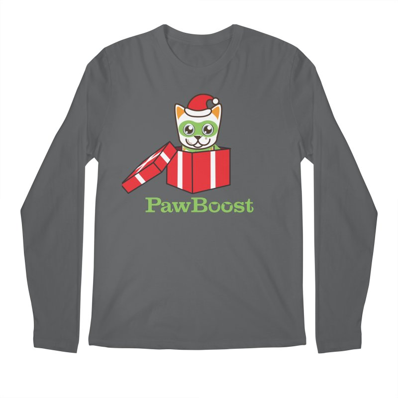 Meowy Christmas! (cat) Men's Regular Longsleeve T-Shirt by PawBoost's Shop