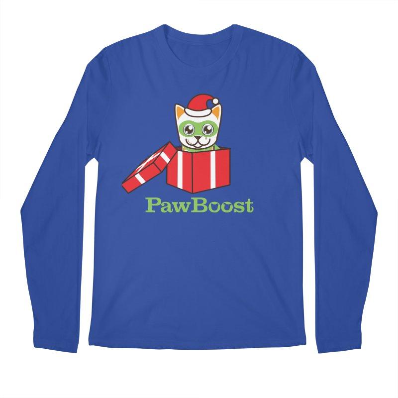 Meowy Christmas! (cat) Men's Regular Longsleeve T-Shirt by PawBoost's Shop