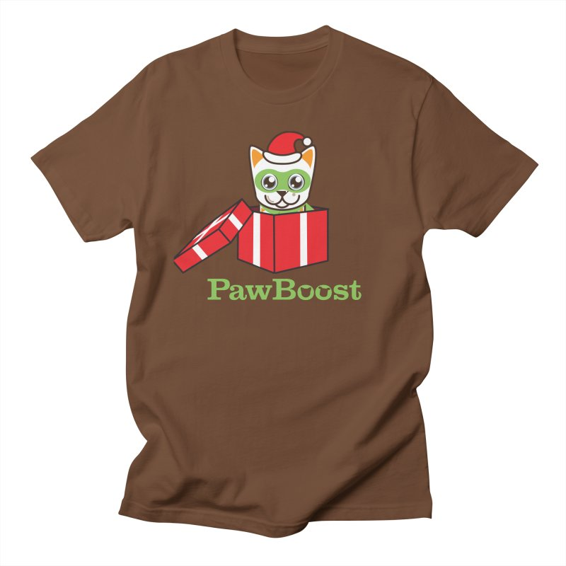 Meowy Christmas! (cat) Women's Regular Unisex T-Shirt by PawBoost's Shop