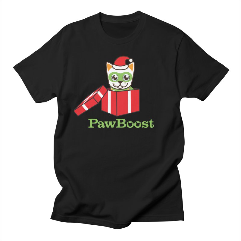 Meowy Christmas! (cat) Men's Regular T-Shirt by PawBoost's Shop