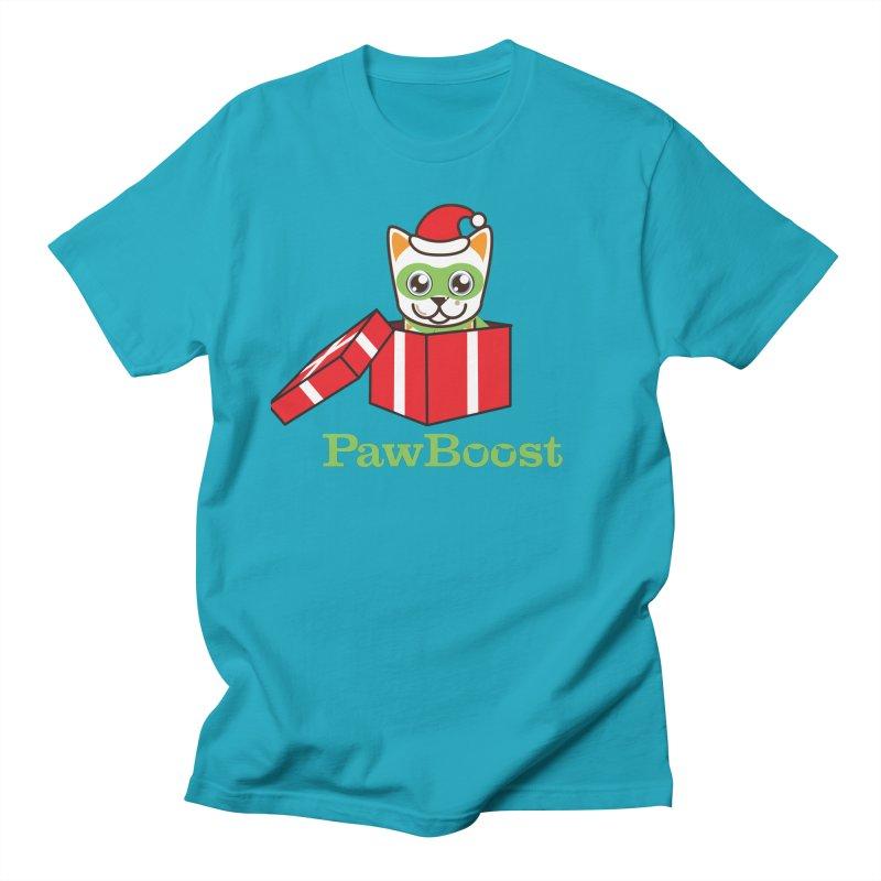 Meowy Christmas! (cat) Men's Regular T-Shirt by PawBoost's Shop