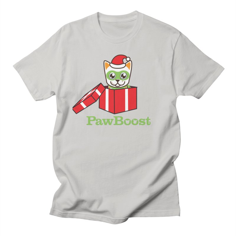 Meowy Christmas! (cat) Women's Regular Unisex T-Shirt by PawBoost's Shop