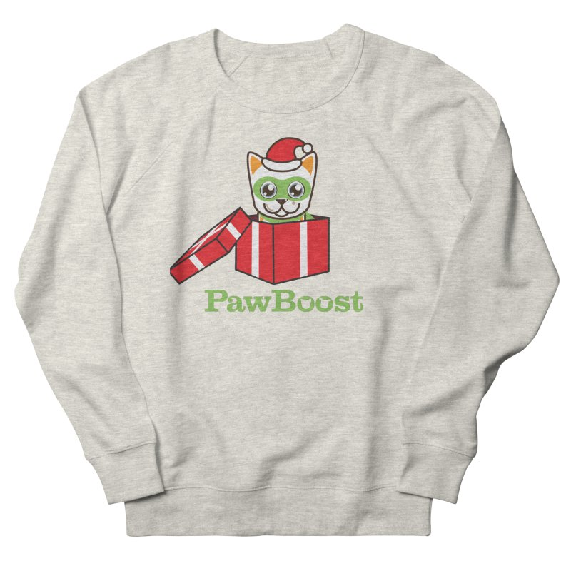 Meowy Christmas! (cat) Women's French Terry Sweatshirt by PawBoost's Shop