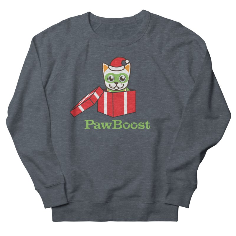Meowy Christmas! (cat) Men's French Terry Sweatshirt by PawBoost's Shop