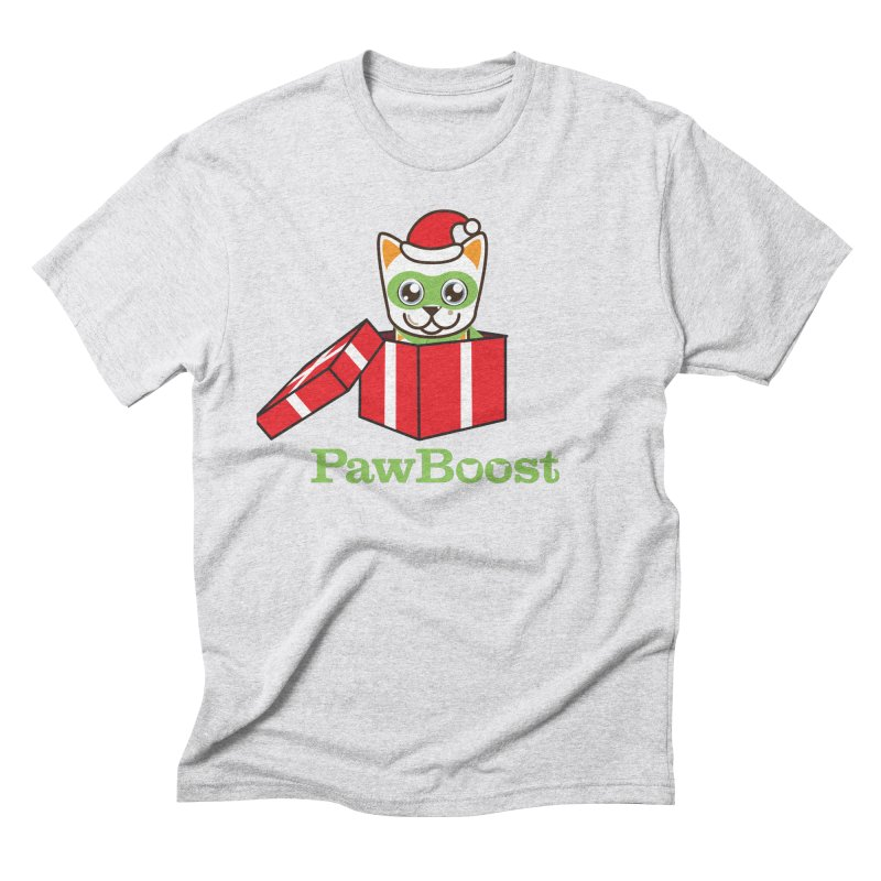 Meowy Christmas! (cat) Men's Triblend T-Shirt by PawBoost's Shop