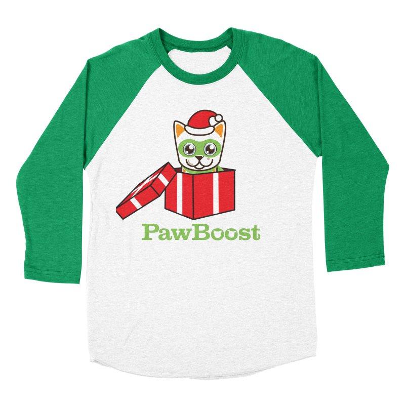 Meowy Christmas! (cat) Women's Baseball Triblend Longsleeve T-Shirt by PawBoost's Shop