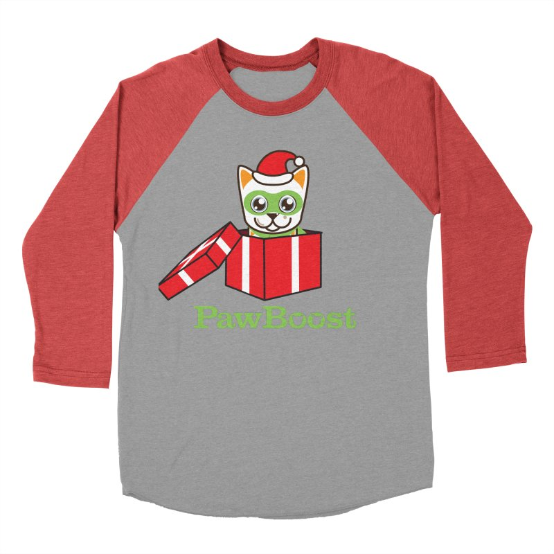 Meowy Christmas! (cat) Men's Baseball Triblend Longsleeve T-Shirt by PawBoost's Shop