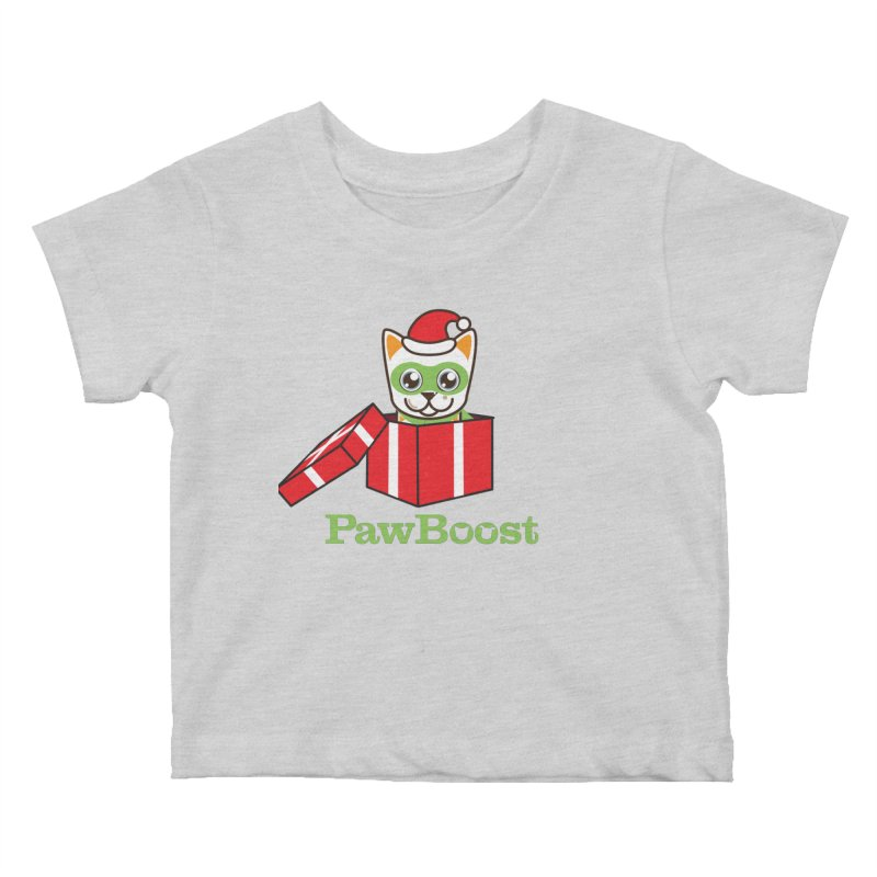 Meowy Christmas! (cat) Kids Baby T-Shirt by PawBoost's Shop