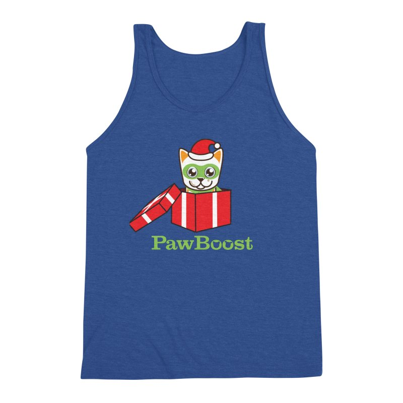 Meowy Christmas! (cat) Men's Tank by PawBoost's Shop