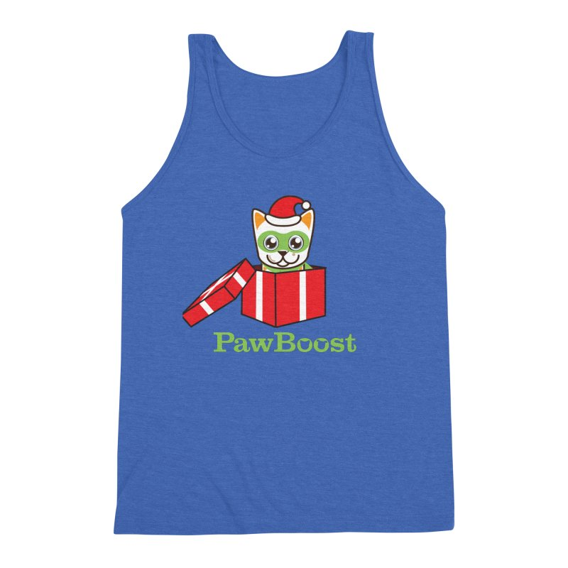 Meowy Christmas! (cat) Men's Triblend Tank by PawBoost's Shop