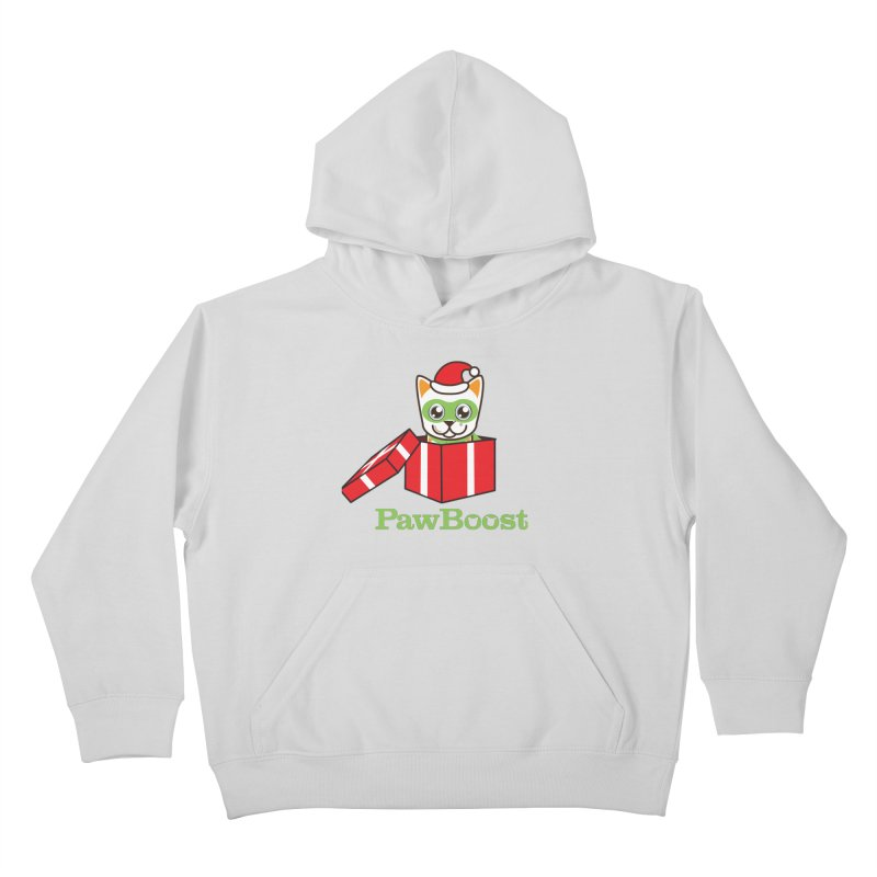 Meowy Christmas! (cat) Kids Pullover Hoody by PawBoost's Shop