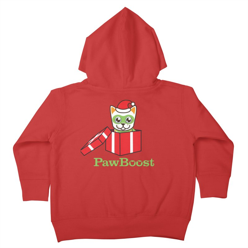 Meowy Christmas! (cat) Kids Toddler Zip-Up Hoody by PawBoost's Shop