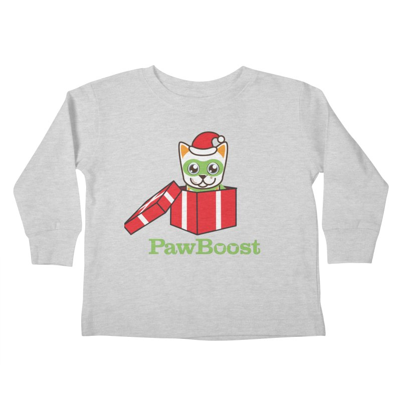 Meowy Christmas! (cat) Kids Toddler Longsleeve T-Shirt by PawBoost's Shop