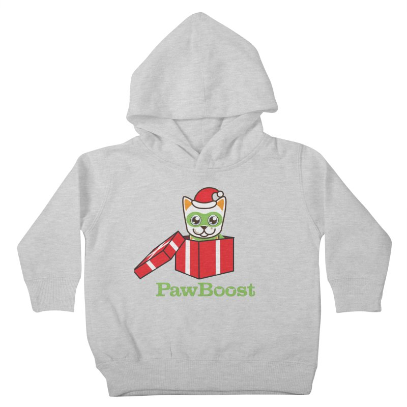 Meowy Christmas! (cat) Kids Toddler Pullover Hoody by PawBoost's Shop
