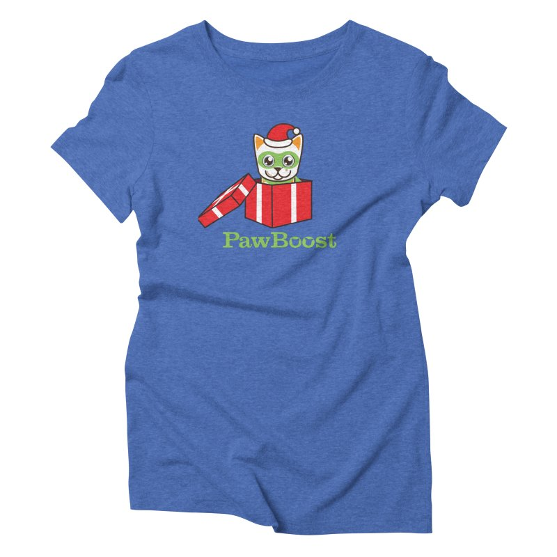 Meowy Christmas! (cat) Women's Triblend T-Shirt by PawBoost's Shop
