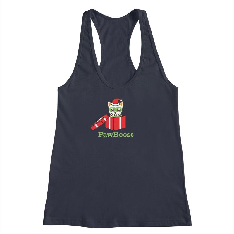 Meowy Christmas! (cat) Women's Racerback Tank by PawBoost's Shop