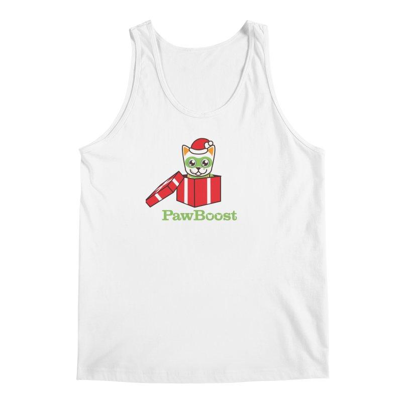 Meowy Christmas! (cat) Men's Regular Tank by PawBoost's Shop